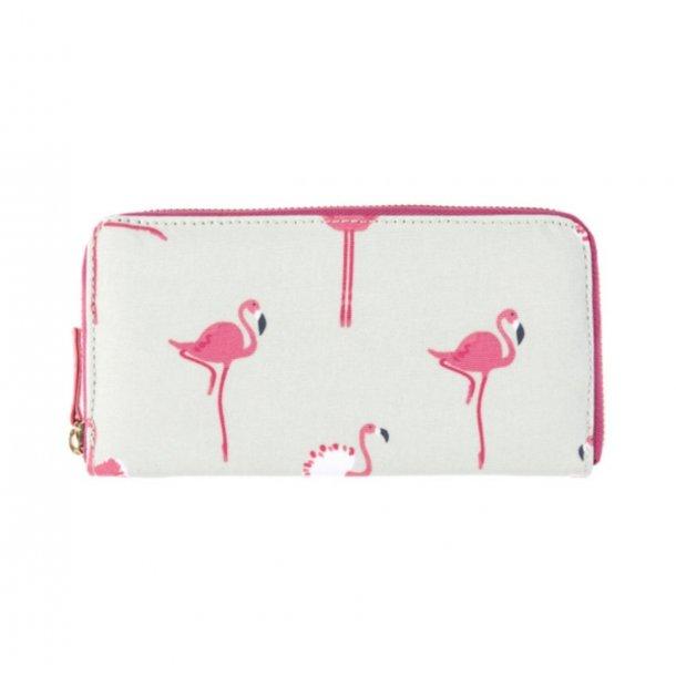 Stor pung med flamingo print