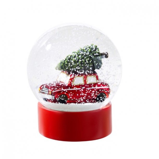 Snow globe bil med træ