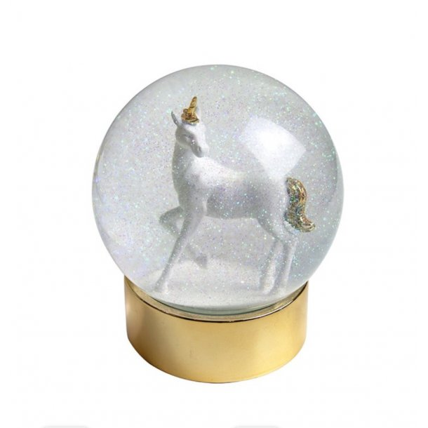 Snow globe unicorn